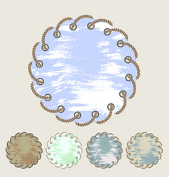 set round stickers and labels with grunge vector image