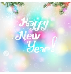 Snowflakes New Year background vector image vector image