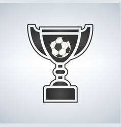 soccer trophy cup award icon in flat style vector image