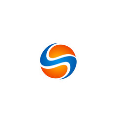 Sphere technology letter s logo vector