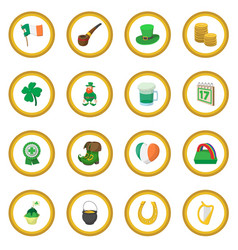 st patrick day cartoon icon circle vector image