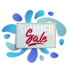 summer sale flyer template with lettering poster vector image