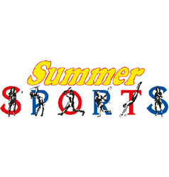 summer sports banner design vector image