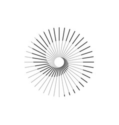 sun spiral logo simple stylized symbol vector image