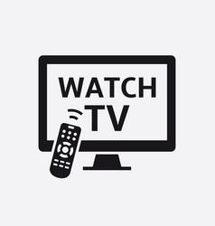 television with remote control icon vector image