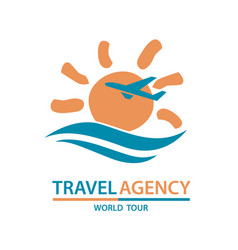 travel logo design vector image