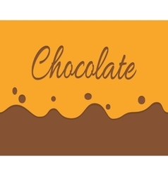 Trickling milk chocolate and label vector