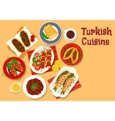 Turkish cuisine icon for restaurant design vector