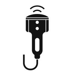 Ultrasonic equipment icon simple style vector