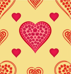 Valentines day Valentine seamless texture hearts vector image