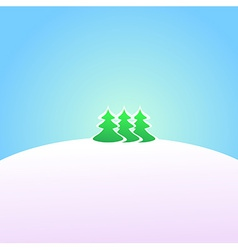 Wallpaper Winter landscape vector