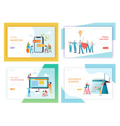 Web development social media marketing concept vector