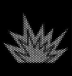 white dotted explosion boom icon vector image