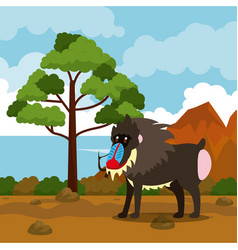 Wild african animals cartoons vector