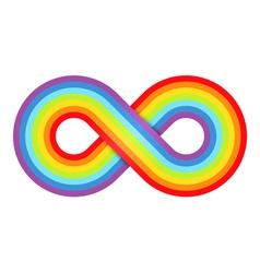 Abstract rainbow infinity vector image vector image
