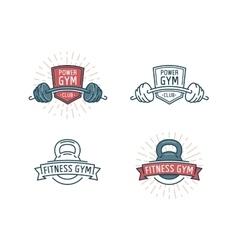 Fitness logo set vector image