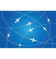flight path poster vector image vector image