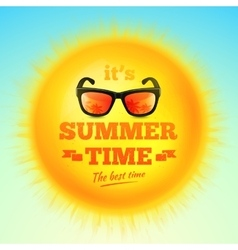 Its Summer Time typographic inscription vector image vector image
