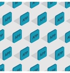 modern app seamless background design vector image