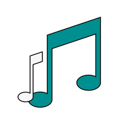music notes icon image vector image