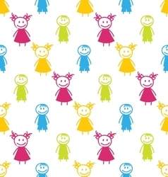 Seamless Background with Smiling Kids vector image