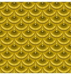 Seamless gold river fish scales vector image vector image