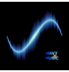 Wave shaped sound waveform vector image