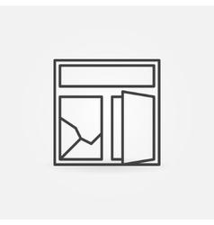 Broken window minimal icon vector image