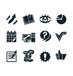 Business icon set v2 vector image