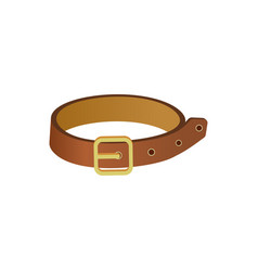 pet leather collar icon vector image