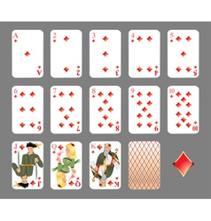 playing cards diamond suit vector image vector image