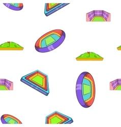 Sport stadium pattern cartoon style vector