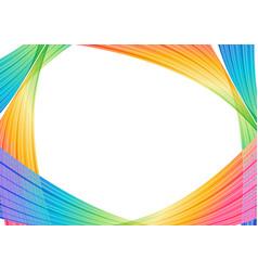 striped colorful background modern frame vector image vector image