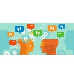 Complaints customer speak conversation bubble talk vector