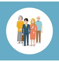 Happy child-free family vector image