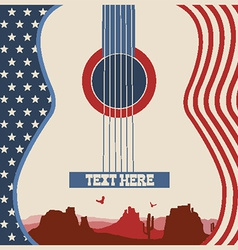 poster of concert music festival with guitar vector image