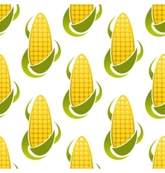 Sweet corn cobs seamless pattern vector