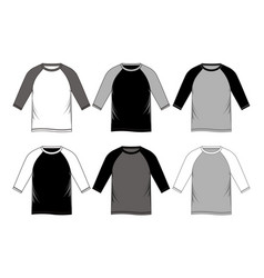 t-shirt template vector image vector image