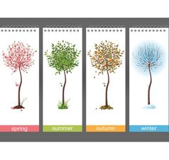 4 seasons vector