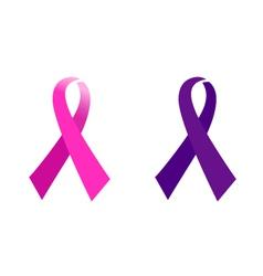 awareness Pink ribbon vector image vector image