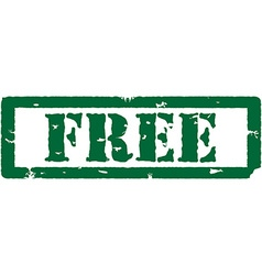 Green stamp free vector image vector image