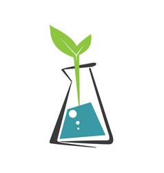 laboratory ecology logo vector image vector image