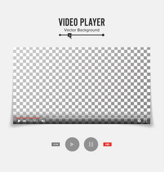 video player interface template good vector image