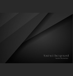 abstract black with dark frame template layout vector image