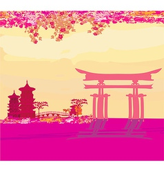 abstract Chinese landscape vector image