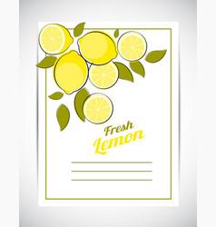 abstract lemon natural background vector image