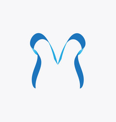 abstract letter m business logo vector image