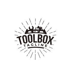 abstract simple industrial mechanic toolbox logo vector image