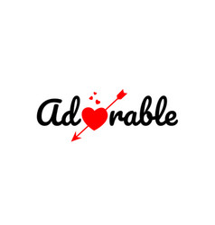 Adorable word text typography design logo icon vector