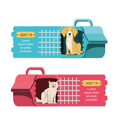 Animals in cage icon vector